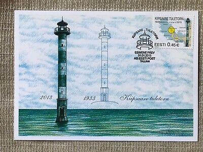 Estland Eesti_Stamp 2013_1 x First Day Card_Lighthouses_Leuchttürme_Faro_Fyr