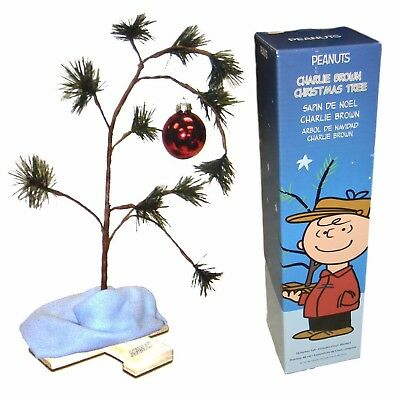 18-Inch Peanuts Charlie Brown Christmas Tree with Linus Blanket Xmas Decor Party