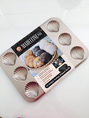 Make Way for Madeleines 12 Cup Scallop Shaped Non-stick Madeleine Pan, New