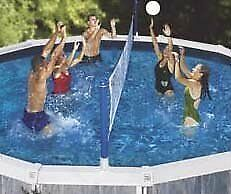 Swimline Cross Pool Volly Above ground Vollyball Game, New