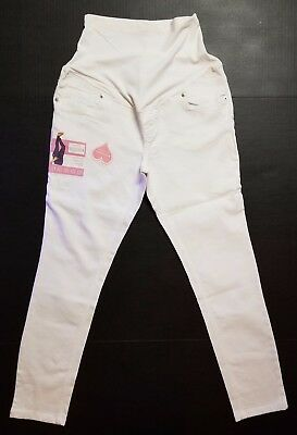 Great Expectations Maternity White Ankle Jeans Size S L XL OR XXL Cotton NEW