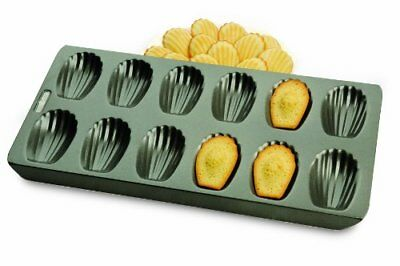 Chicago Metallic Professional 12-Cup Non-Stick Madeleine Pan, 15.75-Inch-by-7.75