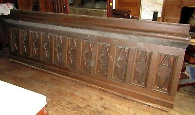11 Foot Victorian Era Gothic Paneling - Bar Front