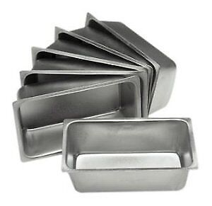 Set of 6 Mini Loaf Pans - 4.5 X 2.5 Inch, New