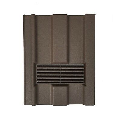 Roof Tile Vent To Fit Marley Ludlow Major | Brown Granular | Flexi Pipe Adaptor