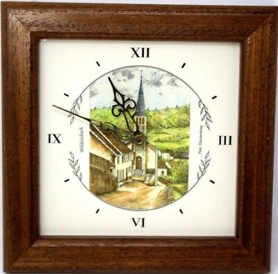 Vintage 20thC French Made Country Wall Clock with German Quartz Movement Souveni