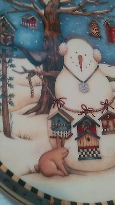 Cold Feathered Friends by Debbie Mumm Plate No. ra4475 Franklin Mint USED