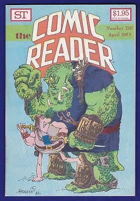 The Comic Reader #210 ST 1983 Sergio Aragones Groo the Wanderer cover