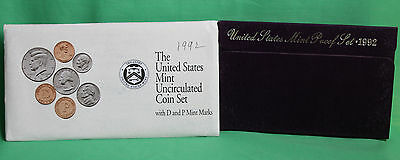 1992 Proof and Uncirculated Annual US Mint Coin Sets PDS 15 Coins