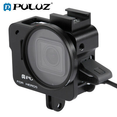 PULUZ  For GoPro HERO6 /5 Metal Housing Shell Protective Cage + 52mm UV Lens