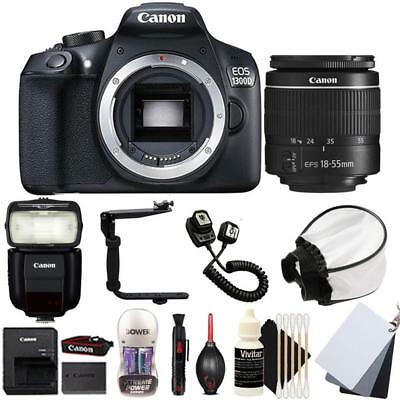 Canon EOS 1300D DSLR Camera with 18-55mm Lens , 430EX lll Non RT Flash and Kit