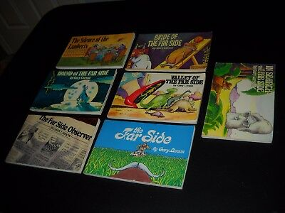 Lot Of 7 Far Side Cartoon Books By Gary Larson~Hound, Observer, Valley, Search+