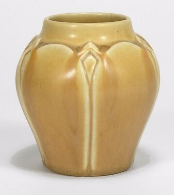 Rookwood Pottery production yellow leaf egg & dart 1924 arts & crafts