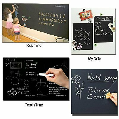 Alinshi Sticky Chalkboard Paper 18x78 Inches (Black), New
