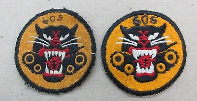 LOT OF 2 Original Cut Edge WW2 605th Tank Destroyers 4 Wheel Patches