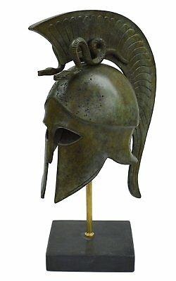 Corinthian Bronze helmet with Serpents - Ancient Warriors - Medium size