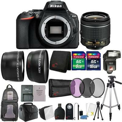Nikon D5600 24.2MP DSLR Camera 18-55mm Lens + TTL Flash with Backpack and More
