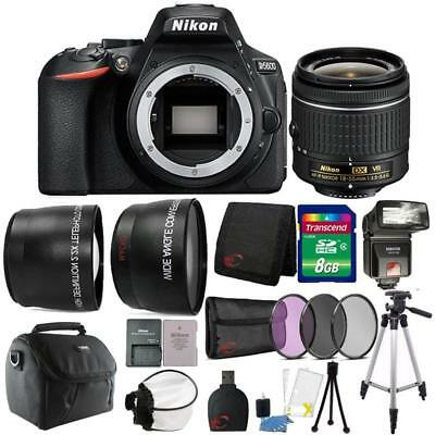 Nikon D5600 24.2MP DSLR Camera 18-55mm Lens + TTL Flash & Premium Accessory Kit