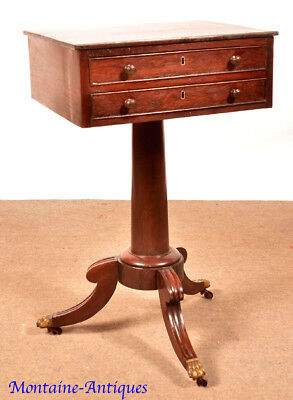 Antique New York Rosewood  Two Drawer Sewing Stand c. 1825