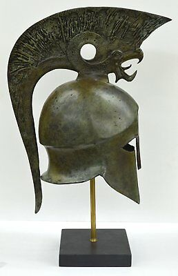 Corinthian Solid Bronze helmet with Griffin - Ancient Greece - Mythical creature