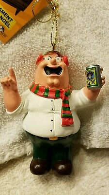 """Family Guy Christmas Holiday Ornament PETER WITH BEER 3.5"""" MINT RESIN"""