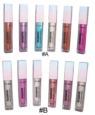 Cosmetics Holographic Long Lasting Lip Gloss PX Look 6Pc Lot (CosL397^*)