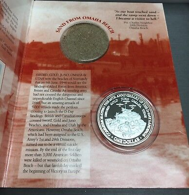 Amazing 2004 Cook Island D-Day Memorial .999 Pure Silver Clad Coin Set!