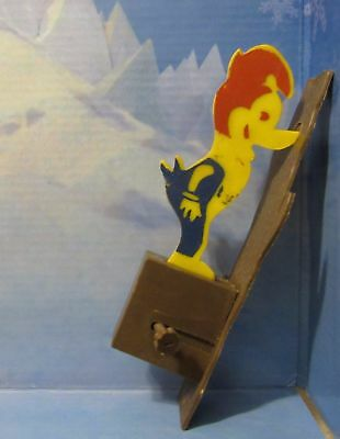 Woody Woodpecker Vintage Cereal Premium Toy Woody Pecking on tree Noise Maker