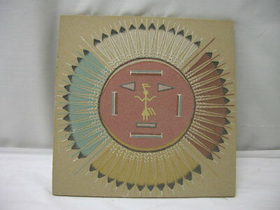 Native American Indian Navajo Sand Painting Handmade Southwest Art Signed