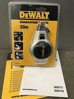 Dewalt Metal Body Chalk Line Dwht47375 Reel 30M Dwht0-47375