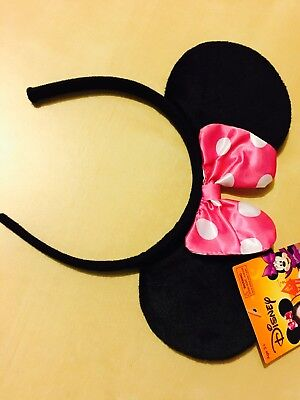 New Disney Parks Head Band Minnie Mouse Ears ( Adult Size )
