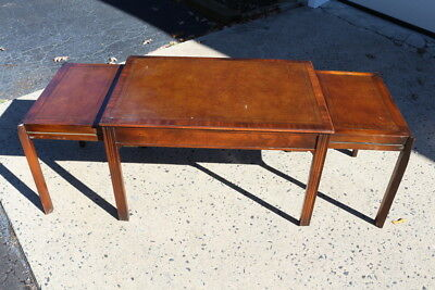 Vintage Beacon Hill Collection Embossed Inlay Slide Out Coffee Table