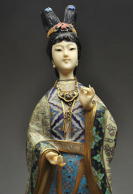 Chinese Gold Gilt Cloisonne Enamel Figure, circa 1900's