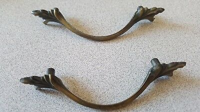 (2)  Vintage  French Provincial Drawer Pulls / Handles  Delicate Looking