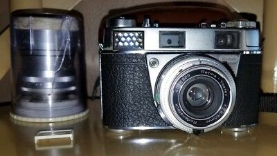 Kodak Retina IIIS Made in Germany bundled w two lens outfit with Leica M adapter