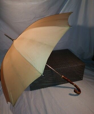 Vintage Italian Parasol Umbrella Made in Italy w/ Leather handle