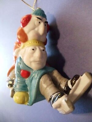 Vintage 1980 Muppets Slater / Waldorf Ornament with Box and Tag, NICE!