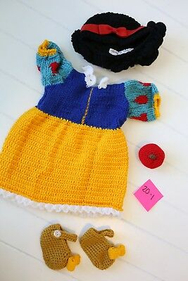 Baby's Crochet Snow White Outfit