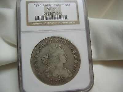 1798---Draped Bust Dollar---Lg Eagle---Ngc Vf30