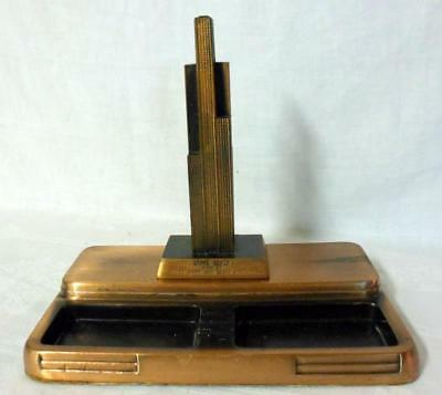 Art Deco Sears Tower Bank & Trust Desk Pen Holder Caddie