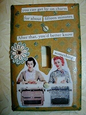 Altered Art Unique OOAK Light Switch Plate Cover