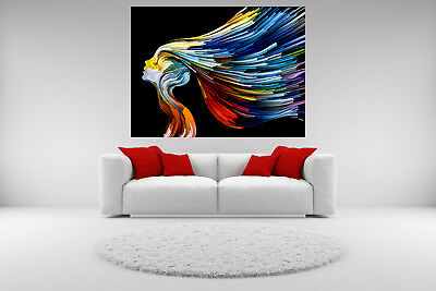 Abstract Canvas Giclee Print Modern Woman Unframed Home Decor Fine Wall Art