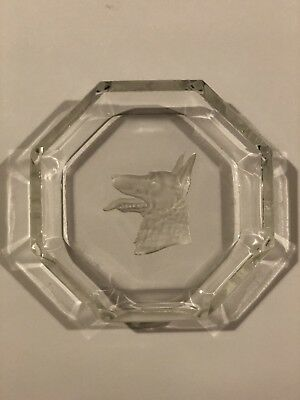 Octagon Shape German Shepard Head Trinket Dish