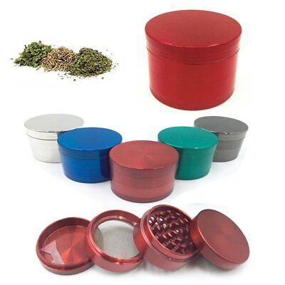 4 Piece Metal Herb Spice Alloy Smoke Crusher Tobacco Herb Grinder Spice