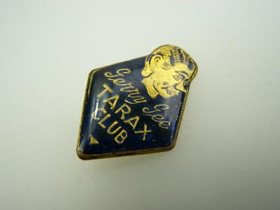 Vintage scarce Gerry Gee Tarax Club pin back badge                2924