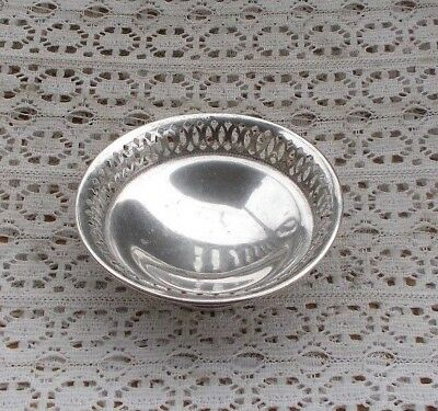 "RARE Vintage Antique 800 Coin Silver Footed Serving Bowl 4"" Great Shape LOOK NR"