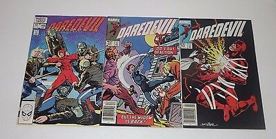 Marvel DareDevil comic lot of 3!! Issues 195 , 201 , and 203