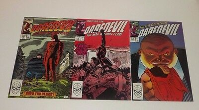 Marvel DareDevil comic lot of 3!! Issues 251 , 152 , and 253