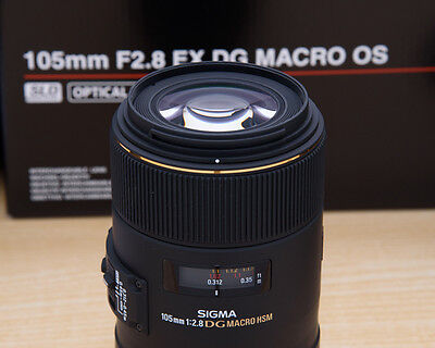 (Excellent) SIGMA 105mm F2.8 EX DG OS HSM MACRO Lens from JAPAN