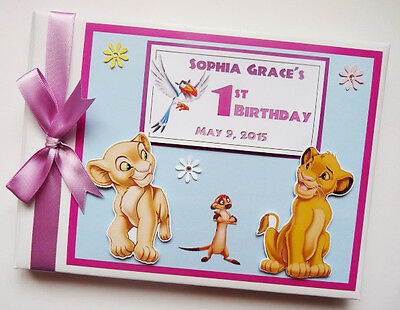 Personalised Disney Lion King Simba Birthday Guest Book - Any Design